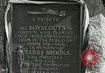 Image of Harry Brooks Memorial Tablet Detroit Michigan USA, 1928, second 60 stock footage video 65675021021