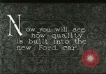 Image of Parts of Ford car United States USA, 1927, second 1 stock footage video 65675021055