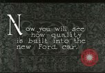 Image of Parts of Ford car United States USA, 1927, second 4 stock footage video 65675021055