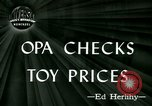 Image of toy prices Washington DC USA, 1944, second 1 stock footage video 65675021126