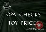 Image of toy prices Washington DC USA, 1944, second 2 stock footage video 65675021126