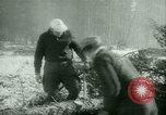 Image of German prisoners work in snow Northern United States USA, 1944, second 22 stock footage video 65675021169
