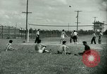 Image of German and Italian POWs play sports United States USA, 1944, second 17 stock footage video 65675021177