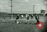 Image of German and Italian POWs play sports United States USA, 1944, second 19 stock footage video 65675021177