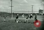 Image of German and Italian POWs play sports United States USA, 1944, second 23 stock footage video 65675021177