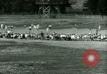 Image of German and Italian POWs play sports United States USA, 1944, second 24 stock footage video 65675021177