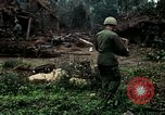 Image of US Army soldiers destroy shelled pagoda building Vietnam, 1968, second 29 stock footage video 65675021204