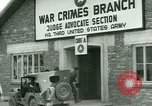 Image of Military tribunal begins for Franz Strasser Dachau Germany, 1945, second 21 stock footage video 65675021220