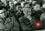 Image of testimony in trial of Franz Strasser Dachau Germany, 1945, second 16 stock footage video 65675021222