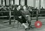 Image of testimony in trial of Franz Strasser Dachau Germany, 1945, second 26 stock footage video 65675021222