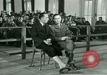 Image of testimony in trial of Franz Strasser Dachau Germany, 1945, second 28 stock footage video 65675021222