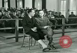 Image of testimony in trial of Franz Strasser Dachau Germany, 1945, second 29 stock footage video 65675021222