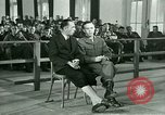 Image of testimony in trial of Franz Strasser Dachau Germany, 1945, second 30 stock footage video 65675021222