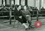 Image of testimony in trial of Franz Strasser Dachau Germany, 1945, second 32 stock footage video 65675021222