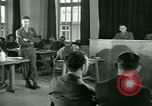 Image of testimony in trial of Franz Strasser Dachau Germany, 1945, second 36 stock footage video 65675021222