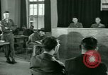 Image of testimony in trial of Franz Strasser Dachau Germany, 1945, second 37 stock footage video 65675021222