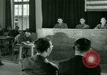 Image of testimony in trial of Franz Strasser Dachau Germany, 1945, second 38 stock footage video 65675021222
