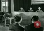 Image of testimony in trial of Franz Strasser Dachau Germany, 1945, second 39 stock footage video 65675021222