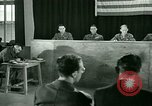 Image of testimony in trial of Franz Strasser Dachau Germany, 1945, second 40 stock footage video 65675021222