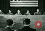 Image of testimony in trial of Franz Strasser Dachau Germany, 1945, second 41 stock footage video 65675021222