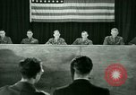 Image of testimony in trial of Franz Strasser Dachau Germany, 1945, second 42 stock footage video 65675021222