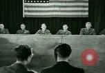 Image of testimony in trial of Franz Strasser Dachau Germany, 1945, second 43 stock footage video 65675021222