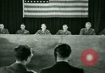 Image of testimony in trial of Franz Strasser Dachau Germany, 1945, second 44 stock footage video 65675021222