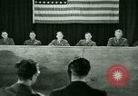 Image of testimony in trial of Franz Strasser Dachau Germany, 1945, second 45 stock footage video 65675021222
