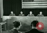 Image of testimony in trial of Franz Strasser Dachau Germany, 1945, second 46 stock footage video 65675021222