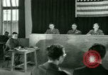 Image of testimony in trial of Franz Strasser Dachau Germany, 1945, second 47 stock footage video 65675021222