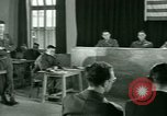 Image of testimony in trial of Franz Strasser Dachau Germany, 1945, second 48 stock footage video 65675021222