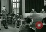 Image of testimony in trial of Franz Strasser Dachau Germany, 1945, second 49 stock footage video 65675021222