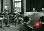 Image of testimony in trial of Franz Strasser Dachau Germany, 1945, second 50 stock footage video 65675021222