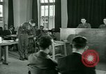 Image of testimony in trial of Franz Strasser Dachau Germany, 1945, second 53 stock footage video 65675021222