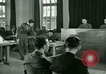 Image of testimony in trial of Franz Strasser Dachau Germany, 1945, second 54 stock footage video 65675021222
