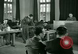Image of testimony in trial of Franz Strasser Dachau Germany, 1945, second 56 stock footage video 65675021222