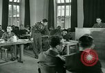 Image of testimony in trial of Franz Strasser Dachau Germany, 1945, second 57 stock footage video 65675021222