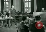 Image of testimony in trial of Franz Strasser Dachau Germany, 1945, second 60 stock footage video 65675021222