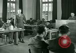 Image of testimony in trial of Franz Strasser Dachau Germany, 1945, second 62 stock footage video 65675021222