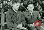 Image of testimony and sentencing of Franz Strasser Dachau Germany, 1945, second 9 stock footage video 65675021223