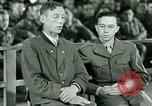 Image of testimony and sentencing of Franz Strasser Dachau Germany, 1945, second 18 stock footage video 65675021223