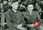 Image of testimony and sentencing of Franz Strasser Dachau Germany, 1945, second 19 stock footage video 65675021223