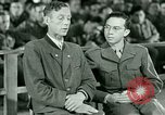 Image of testimony and sentencing of Franz Strasser Dachau Germany, 1945, second 21 stock footage video 65675021223
