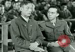 Image of testimony and sentencing of Franz Strasser Dachau Germany, 1945, second 23 stock footage video 65675021223