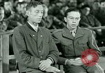 Image of testimony and sentencing of Franz Strasser Dachau Germany, 1945, second 33 stock footage video 65675021223
