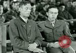 Image of testimony and sentencing of Franz Strasser Dachau Germany, 1945, second 34 stock footage video 65675021223