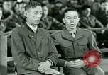 Image of testimony and sentencing of Franz Strasser Dachau Germany, 1945, second 50 stock footage video 65675021223