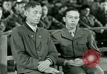 Image of testimony and sentencing of Franz Strasser Dachau Germany, 1945, second 51 stock footage video 65675021223