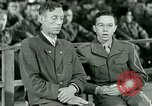 Image of testimony and sentencing of Franz Strasser Dachau Germany, 1945, second 54 stock footage video 65675021223