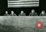Image of testimony and sentencing of Franz Strasser Dachau Germany, 1945, second 55 stock footage video 65675021223
